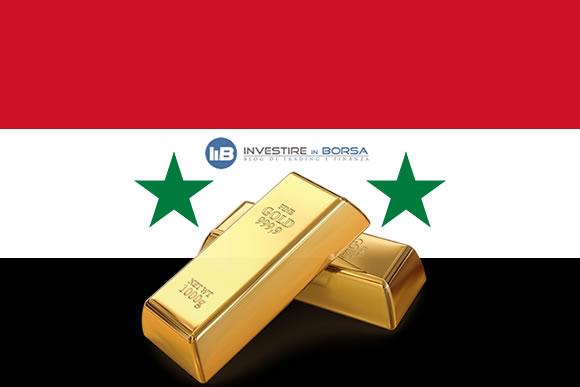 Oro: previsioni sul prezzo in relazione alla situazione siriana